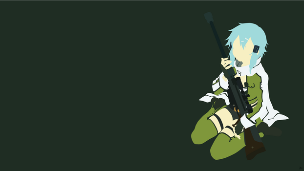 Sinon {Sword Art Online II} by greenmapple17