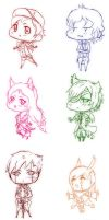TS: Chibi Sketches by axelyaoiroxas