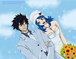 Gray x Juvia #5 (the wedding of ice and water) by Juviaaa