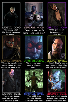Arkham City Alignment Chart by The-Russian-Gestapo