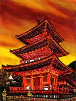 The pagoda of the fire by hbdudu