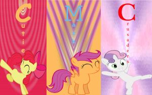 Cutie Mark Crusaders Wallpaper by Macgrubor