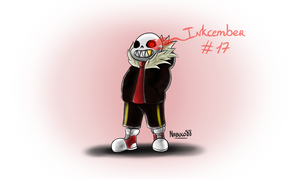 Inkcember 17 - Sans!Fell by Nabuco88