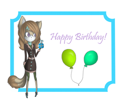 Happy B-day MsBlazex3 by Long-Dog