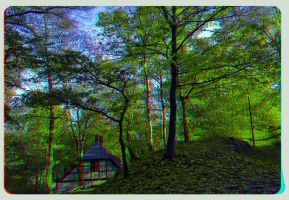 Sunset 3D ::: HDR Anaglyph Stereoscopy by zour