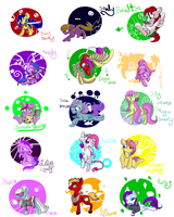 Draw all the ponies 3 by C0tt0nTales