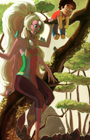 The Giant Woman in the Trees by Hae-Hyun