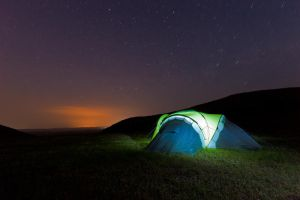 Tent in the night by artfoto