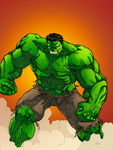 The Hulk - Colored by BMFreed