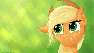 Wallpaper - Applejack Portrait by 1rumi1