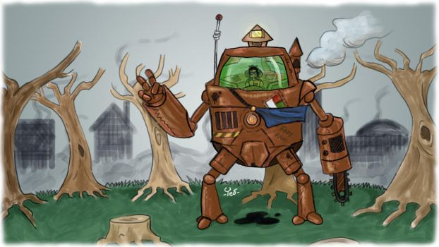Save the Earth, build cities with giant robots. by CauliTed