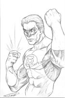 Green Lantern  convention sket by VinRoc