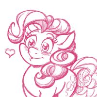 Pink Pone Blush (sketch) by LateCustomer