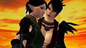 Morrigan and Merrill by notsodamndeviant