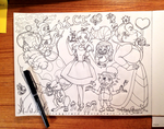 Alice in Doodleland by alisagirard