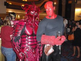Dragon Lord and Hellboy by Red-Dragon-Lord