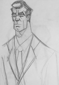 Gangster sketch by augustmany