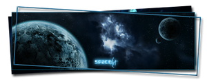 Space Art - Blue Nebula by najduk