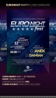 EURONIGHT Party Flyer Template by anekdamian