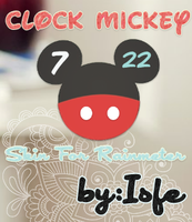 Clock Mickey Skin For Raimeter by Isfe
