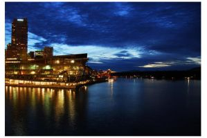 Canada Place At Night 1 by ajithrajeswari
