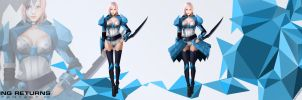 Lightning Returns - FFXIII  Navy blue  Suit Design by WarrGon