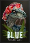 BLUE CLEVER GIRL by MANUSAURIO