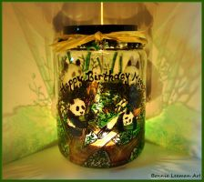 Baby Panda Jar by Bonniemarie