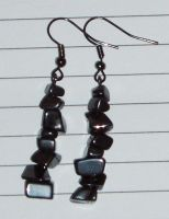 Hematite Earrings by Lost-in-the-day