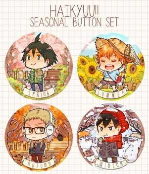 AFAID 2014 - Haikyuu seasonal button set by naoyatoudo