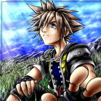 Coloring Sora is fun by Soreiya