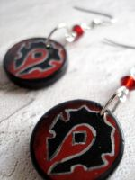 WoW Horde Earrings design 1 by Erisana
