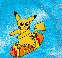 Surfing Pikachu by 565mae10