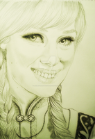 OUAT - Anna | Portrait sketch A3 by AnimeFreak-Denise