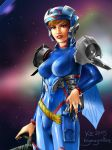 Space Girl 2015 closeup by Keymagination