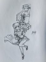 Let's fight together! - Lucy x Aquarius by Lemnel24