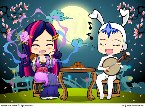 Serenading with mooncakes by EVOV1