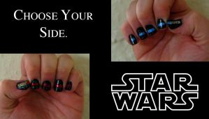 Lightsaber Nails: Choose Your Side Wisely by KookylmhNails