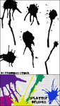 splatter brushes by rainbows-stock