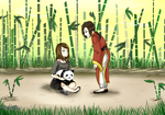 Chilling In the Bamboo Forest by LibraK
