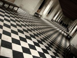 Checkerboard Footsteps by tay-kewl