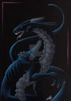 Nocturnal dragon by The-Blackwolf