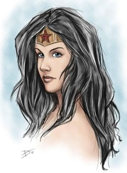 Wonder Woman Sketch by HaloGhost