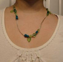 OffCenter Leafy Nymph Necklace by Eliea