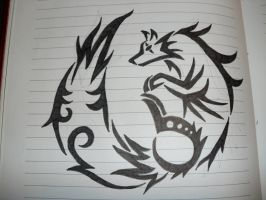 Tribal Wolf by FieryWindWaker