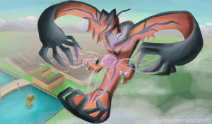 a Yveltal appeard by I-drew-a-pokemon