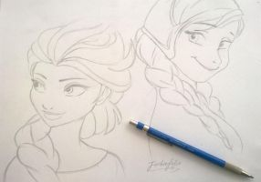 anna and elsa by jackiefelixwei