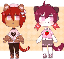 |CLOSED| Pink Kittens ADOPTS by xaradopts