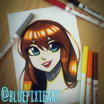 Crayola marker only challenge by BluePixieArt
