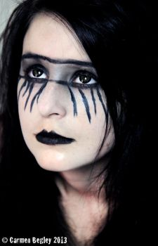 Gothic makeup by carmeleon